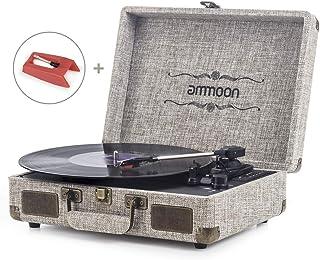 Tocadiscos Vinilo, ammoon Tocadiscos Vintage de 3