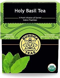 Organic Holy Basil Tea - Kosher, Caffeine-Free, GMO-Free - 18 Bleach-Free Tea Bags (3 Pack)