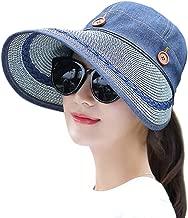 Muryobao Women's Reversible 2-in-1 Wide Brim Floppy Hat UV Protection Hats for Beach Glof