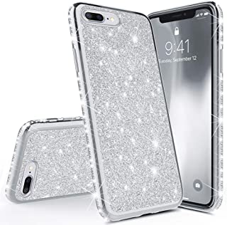Stysen Glitter Cute Bling Diamond Rhinestone Bumper Case for {iPhone 5S SE 5} Thin Protective Sparkly Luxury Case for Girls Women-Silver