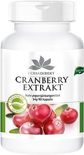 Herbadirekt - Cranberry Extract - 25-voudig geconcentreerd - 90 capsules