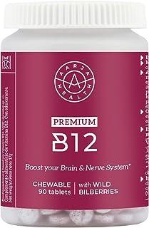 Aarja Health - B12 Vitamina Masticable (1000mg) Con Arándanos Nórdicos - Aumenta tu Energia - Sin Estearato