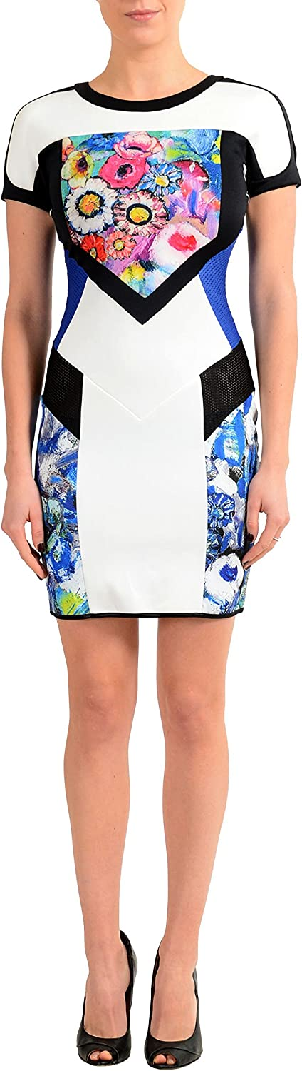 Just Cavalli Multicolor Short Sleeve Women's Stretch Bodycon Dress