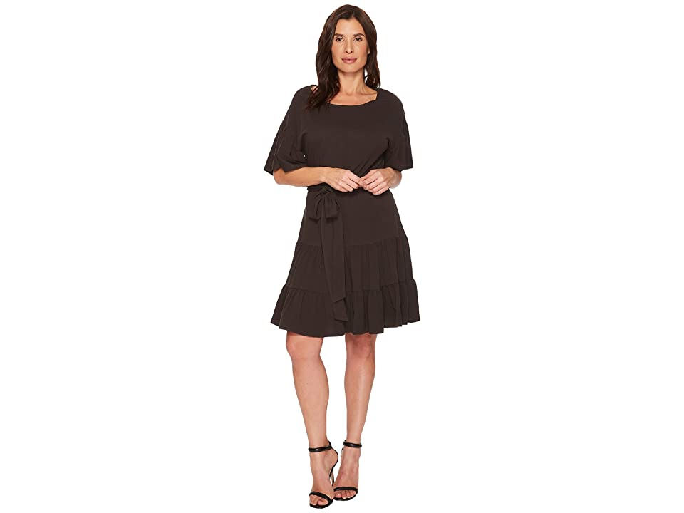 B Collection by Bobeau Angel Washed Cotton Dress (Washed Black) Women