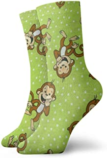 Jhonangel, Niños Niñas Locos Divertidos Divertidos Calcetines de Mono Verde Calcetines Lindos de Novedad