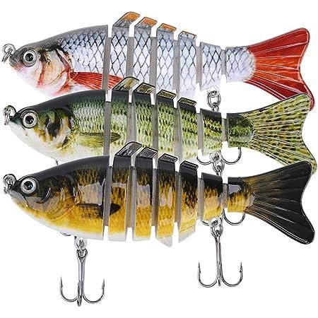 1PC Lifelike 23cm//46g Jointed Fishing Lure Minnow Hard Bait Crankbait Wobbler