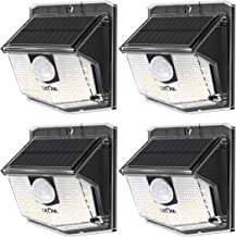 LITOM Solar Lights Outdoor, IP67 Waterproof Solar Motion Sensor Light with 270° Lighting Angle, Wireless LED Solar Powered Security Wall Light for Patio,Yard,Garage,Garden,Stairs,Driveway 500LM 4 Pack