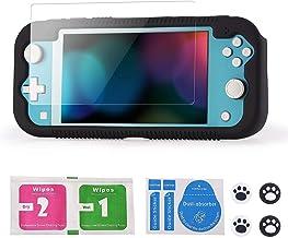 Teyomi Capa para Nintendo Switch Lite 2019 com Protetor de Tela de Vidro Temperado, 4 Pçs para Polegar e 2 Cartuchos de Jo...
