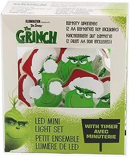 Kurt Adler The Grinch 20 Light Battery-Operated LED Fairy Light Set