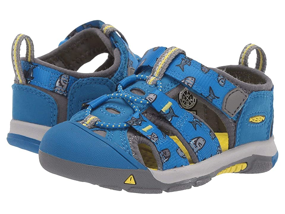 Keen Kids Newport H2 (Toddler) (Vibrant Blue Sharks) Kids Shoes