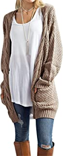 Women's Loose Open Front Long Sleeve Solid Color Knit...