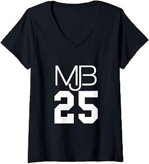 Womens Mary J. Blige Official MJB 25 Year V-Neck T-Shirt