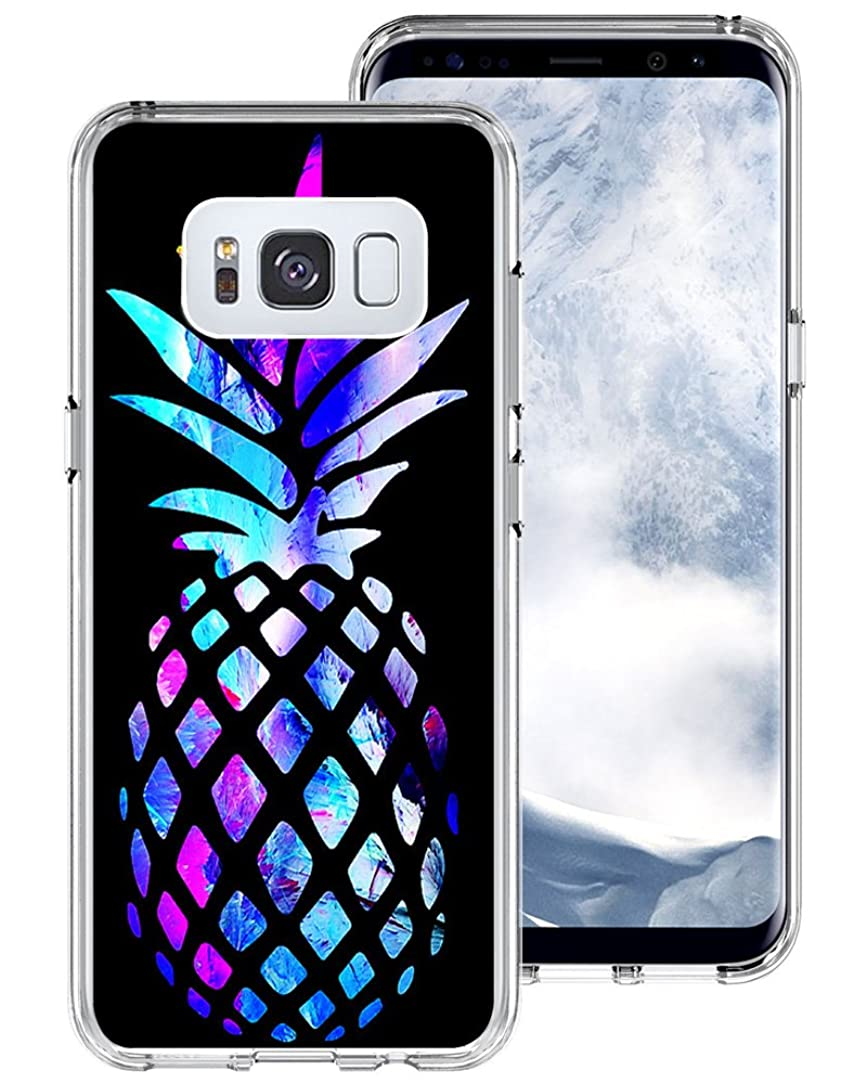 S8 Plus Case,Gifun [Anti-Slide] and [Drop Protection] Soft TPU Protective Case Cover for Samsung Galaxy S8 Plus 6.2 inch (2017) - Beautiful Brightly Colored Marble Pineapple