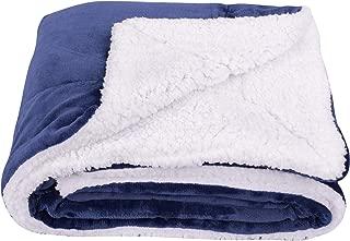 SOCHOW Sherpa Fleece Throw Blanket, Double-Sided Super Soft Luxurious Plush Blanket Twin Size, Navy Blue