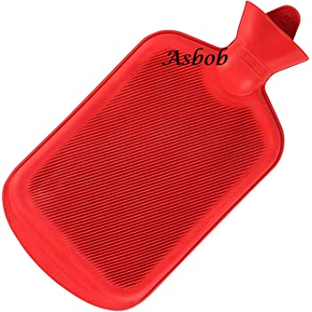Asbob® hot water bags for pain relief non-electrical (2 Litre - Red)