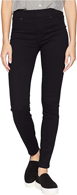 Chloe Skinny Jeans in Silky Soft Stretch Denim in Black Rinse