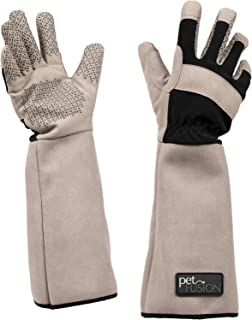 PetFusion Multipurpose Pet Glove for Grooming, Trips to Vet, Handling. [Puncture & Scratch Resistant, Water Resistant]. 12 Month Warranty for Manufacturer Defects