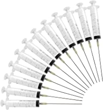 10pack jeringa de 20 ml con 10pack 19G 1.1-100mm aguja dispensadora sin filo Aguja dispensadora conjunto de jeringa jeringa de plástico jeringa desechable