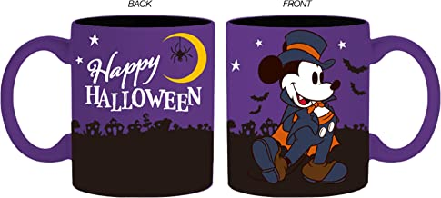 Silver Buffalo DL132132 Disney Halloween Mickey Mouse Dracula Ceramic Mug, 14-Ounce, purple