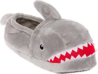 2df5158aa6c Silver Lilly Shark Plush Slippers - Novelty Animal Slippers w Foam Support