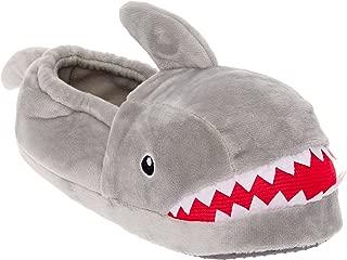 Shark Plush Slippers - Novelty Animal Slippers w/Foam Support