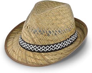 Cappello di paglia da vendemmiatore (protezione dal sole) per Lui e per Lei | Cappello da sole modello trilby | Cappello d...