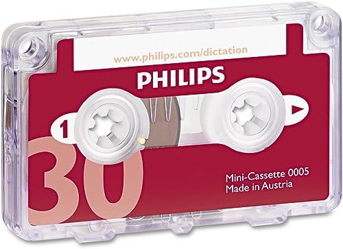 Philipspch Audio & Dictation Mini Cassette, 30 Minutes (15 X 2), 10/Pack