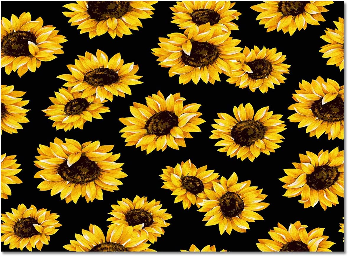 ZOE GARDEN Area half Rug 2' Elegant x 3' Sunflower Living Room No for Yellow
