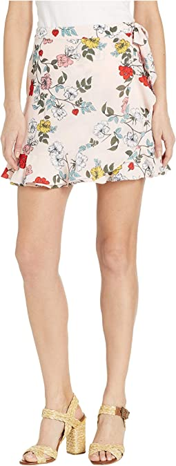Wrap It Up Printed Wrap Skirt