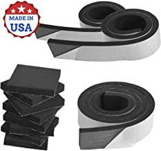 XCEL 11 Pack Pre-Cut Marine Foam Bundle, Closed Cell Neoprene Rubber with Adhesive, Easy Cut Material, Water and Weather Resistance. Multiple Sizes, Noise Dampening Rubber, Made in USA