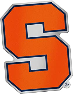 Syracuse Orange Auto Badge Decal, Hard Back Thin Plastic