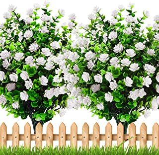 Axylex Artificial Flowers Outdoor Winter - Outside Face Plants Fake Greenery UV Resistant No Fade Faux Daffodils Bundles S...