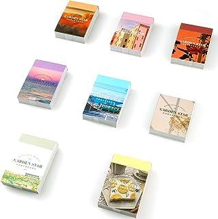 Washi Lot de 8 autocollants de scrapbooking (400 pièces) pour journal, scrapbooking, agenda, carnet, fabrication de carte...