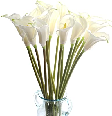 Flowers 10 Pcs Artificial Tulips Flower Calla Lily Flowers Fake Plastic Flower
