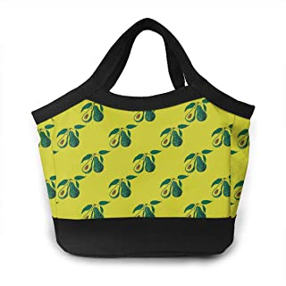 Lunch Bag Hawaii Fruit Avocados Gourmet Lunchbox Container for Men Women Adults, Work/School/Meal Prep Lunch Container Premium Totebag Reusable Snacks Organizer