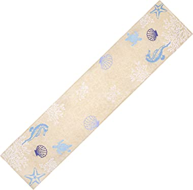 DII Design Imports Seashore Embroidered Table Runner
