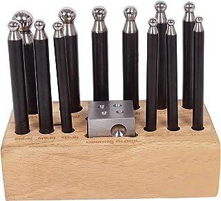 GT instrumentos Dapping Dapping punzón de metal con base de madera joyería Making Tool Set de