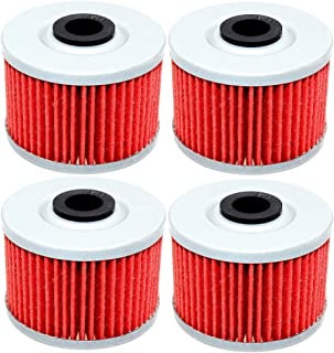 4 Pack Yerbay Motorcycle Oil Filter for Kawasaki KLX110 L KLX110L KLX 110L 2014-2016 / KLX 125 KLX125 D-Tracker 2010 2011