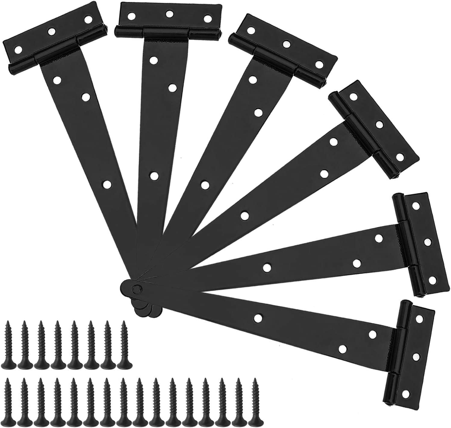 Sacramento Mall 6Pcs 10 Inch T-Strap Tee Max 90% OFF Hinge Shed Duty T-Hinges Heavy Set Gate