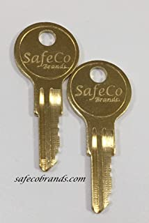 SafeCo Brands Replacement 1347 Fire Alarm Keys 2- Keys (1347 Silent Knight)