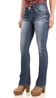 Women's Juniors Classic Legendary Stretch Bootcut Denim Jeans w/Back Flap Pocket