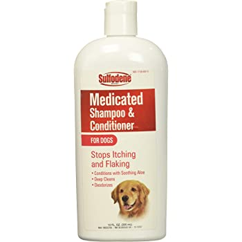 Sulfodene Medicated Shampoo and Conditioner for Dogs 12 Ounce Bottles