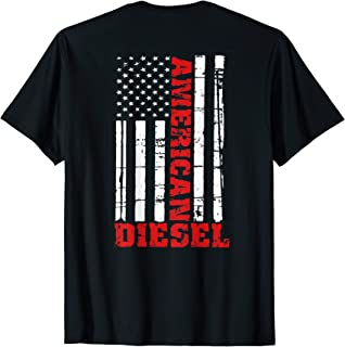 American Diesel Flag T-Shirt Truck Turbo Brothers
