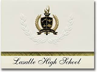 Signature Announcements Lasalle High School (St. Ignace, MI) Graduation Announcements, Presidential style, Basic package o...