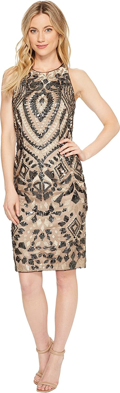Aidan by Mattox Women's Sequin Limited time for Fashion free shipping Embroidered Dress
