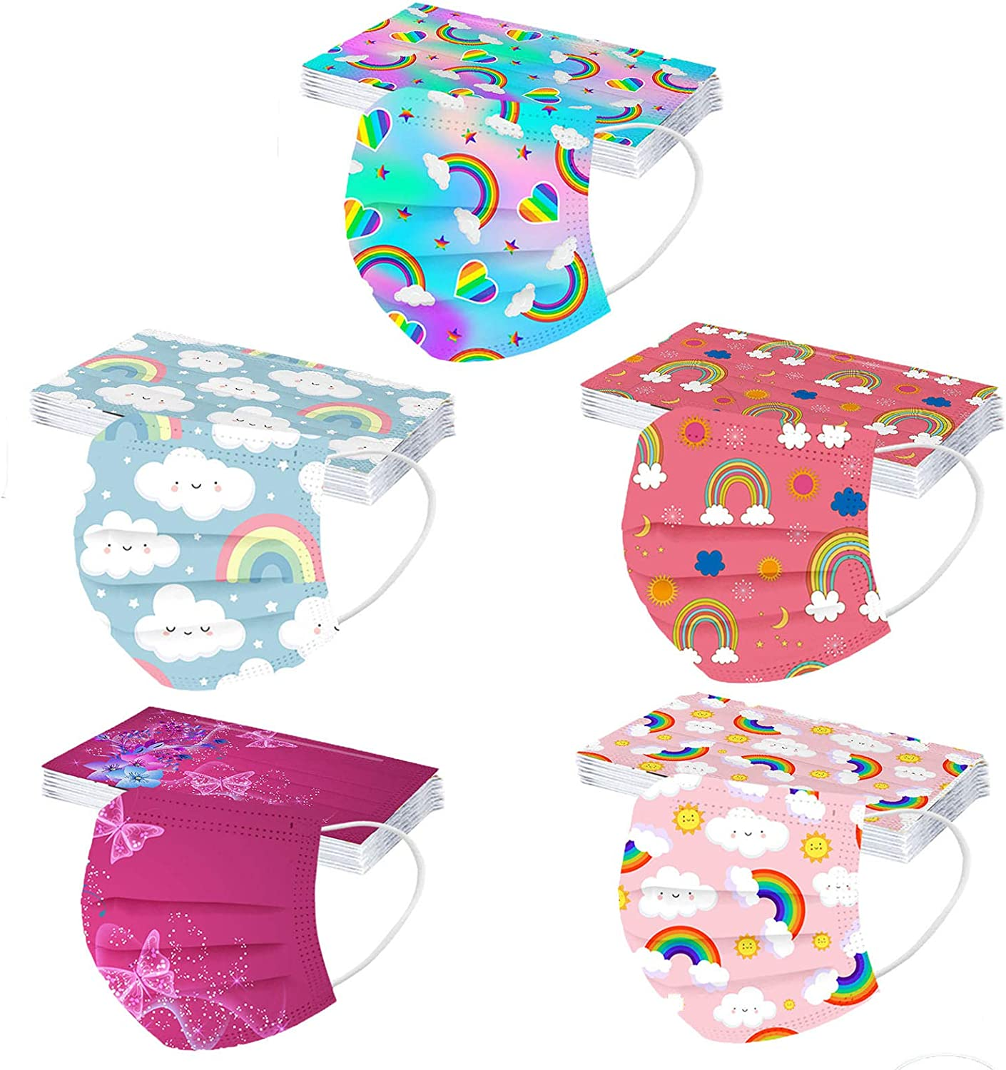50 Pcs Kids Max 83% Colorado Springs Mall OFF Disposable_Face_Masks Boys Girls for Protection Spac