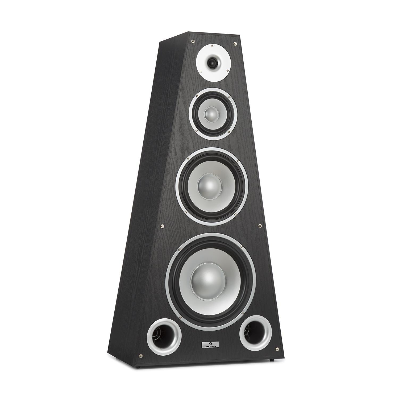 Auna SP-800 - Altavoces Hi-Fi, Caja de Altavoces, Tecnología de 4 vías, De 20Hz a 20 kHz, Sensibilidad de 89 dB, Impedancia de 6 Ohm, Forma piramidal, 330 W, Carcasa de Madera, Negro: Amazon.es: Electrónica