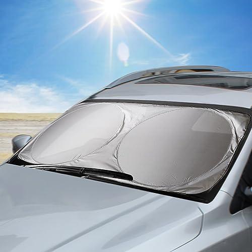 Aodoor Parasol para Parabrisa, parasoles de Coche Delantero, Protección Auto Frontal Plegable contra el