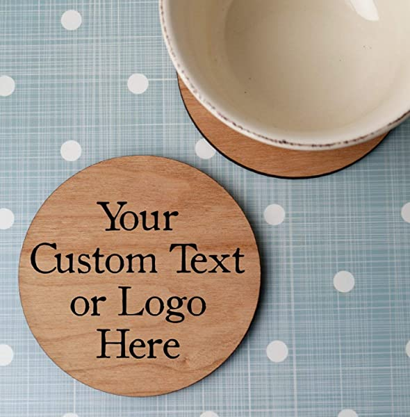 Custom Wooden Coasters Personalized Wood Coasters Laser Engraved Round Wooden Drink Coasters Christmas Wedding Or Anniversary Gift Set Of 4 Pc