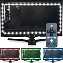"Luminoodle Color Bias Lighting - 15 Color LED TV Backlight with Remote - USB Light Strip Kit for Home Theater Ambient Lighting - Large (30"" - 40"" TV)"